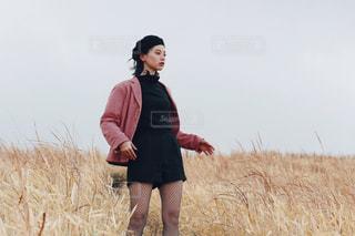 風とピンクの写真・画像素材[1143889]