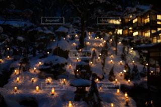 夜空に花火のグループ - No.1145002