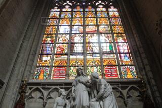 ブリュッセルにある教会の写真・画像素材[1165537]