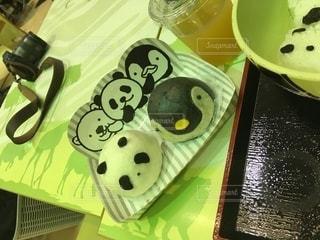 パンダの肉まんの写真・画像素材[2793607]