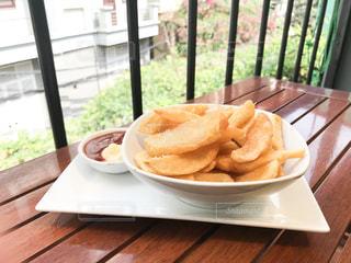 ベトナムの洋食屋さんのフライドポテトの写真・画像素材[1170254]
