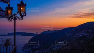 南仏の夕焼けの写真・画像素材[1144004]