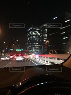 夜の街の景色の写真・画像素材[1144211]