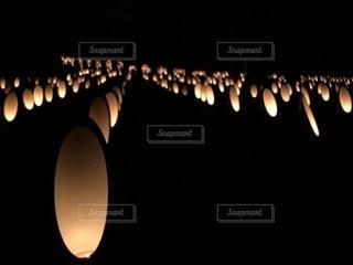 竹灯籠の明かり(アップ)の写真・画像素材[1146267]