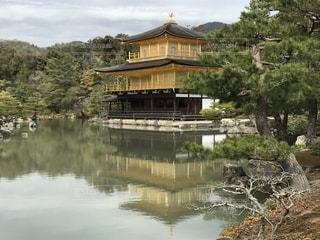 水面に映る金閣寺の写真・画像素材[1150276]