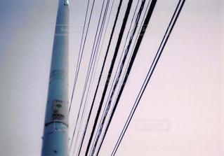 電柱と電線の写真・画像素材[1044586]
