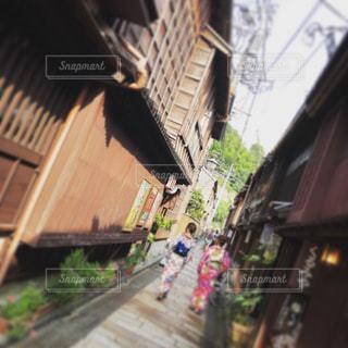 街の通りのビューの写真・画像素材[1146161]