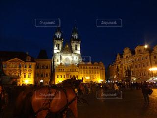 プラハ夜景の写真・画像素材[1149999]