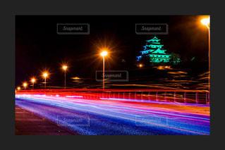 夜の唐津城の写真・画像素材[1777474]