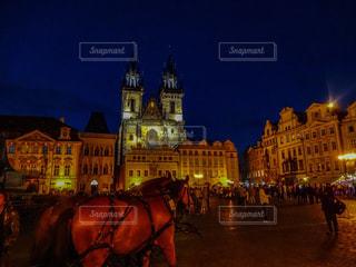 プラハの夜景の写真・画像素材[1803942]