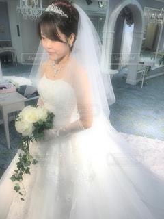 ウエディングドレスの写真・画像素材[1155831]
