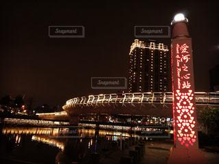 夜の街の景色の写真・画像素材[1150607]