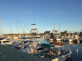 ハワイ港の船着場の写真・画像素材[1151633]