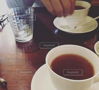 クローズ アップ食べ物の皿とコーヒー カップの写真・画像素材[1259281]