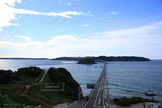 角島大橋を眺めるの写真・画像素材[1152239]