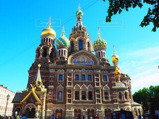 ロシアのカラフルな教会の写真・画像素材[1152651]