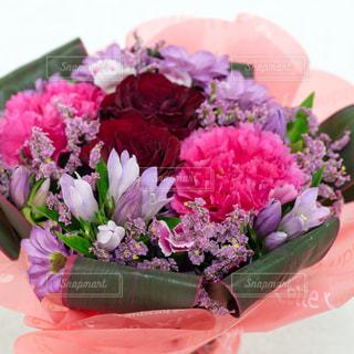 ピンクの花の花束の写真・画像素材[1152889]