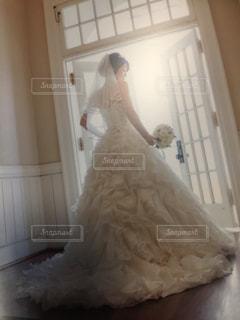 花嫁の後ろ姿の写真・画像素材[1153742]