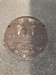 かわいいマンホールの写真・画像素材[1154554]