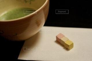 お抹茶と和菓子の写真・画像素材[4663452]