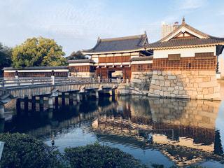 夕暮れの広島城の写真・画像素材[1154842]