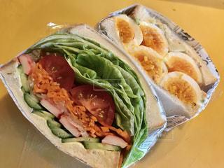 娘弁当のサンドイッチの写真・画像素材[1281710]