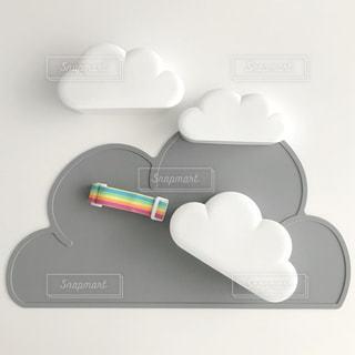 雲のランチボックスの写真・画像素材[1157384]