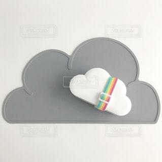 雲の形のランチボックスの写真・画像素材[1157385]