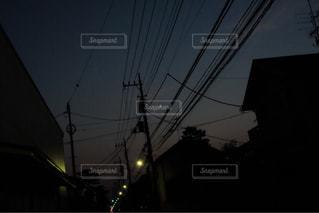 三日月の帰り道の写真・画像素材[1319146]