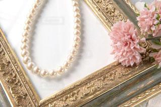真珠のネックレスの写真・画像素材[1443591]