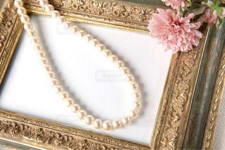 真珠のネックレスの写真・画像素材[1443593]