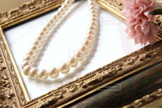 真珠のネックレスの写真・画像素材[1443595]