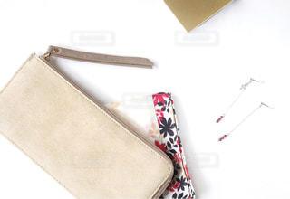 お財布とハンカチの写真・画像素材[1488975]