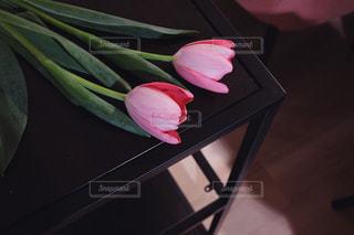 テーブルの上の花の写真・画像素材[1813160]