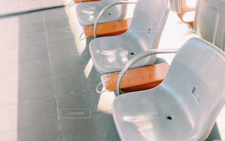駅のホームにての写真・画像素材[3074783]