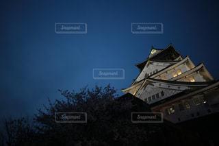 そびえ立つ大阪城の写真・画像素材[1162229]