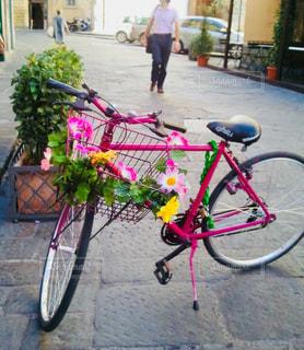 ピンクの自転車の写真・画像素材[1160362]