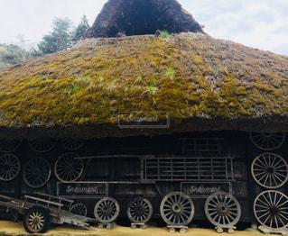 かやぶき屋根の写真・画像素材[1162824]