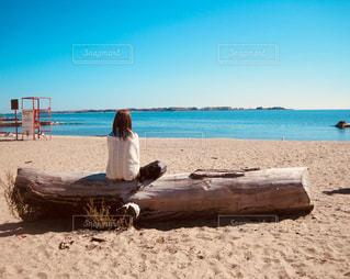 砂浜でひと休みの写真・画像素材[1163965]