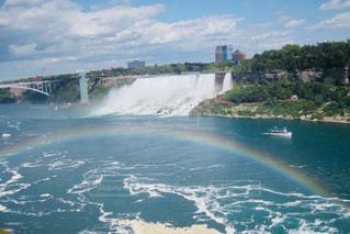 ナイアガラの滝と虹の写真・画像素材[1163977]