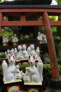 神社のお稲荷様の写真・画像素材[1161215]
