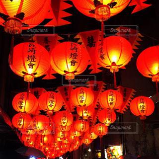 夜はライトアップ ランプの写真・画像素材[1160198]