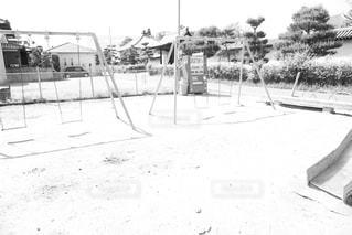 公園✽白黒写真の写真・画像素材[1160408]
