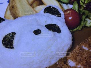 皿の上の食べ物のクローズアップの写真・画像素材[2277659]