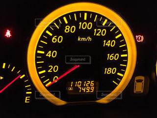 スピードメーターの写真・画像素材[3222751]