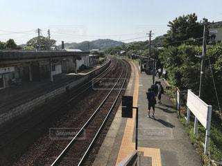 田舎駅の風景の写真・画像素材[1160901]