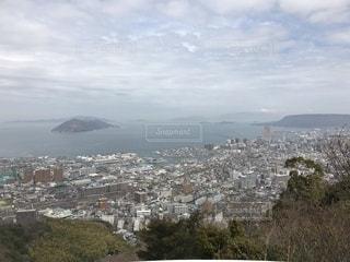 高台から見る瀬戸内海と高松市の写真・画像素材[1162927]