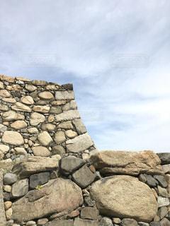 石垣と青空の写真・画像素材[1164531]