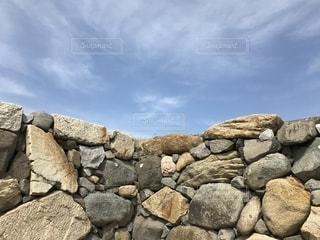 石垣と空の写真・画像素材[1164537]