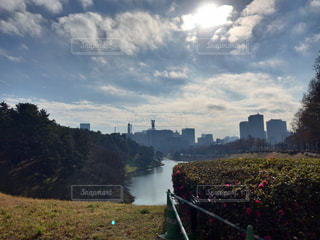 曇りの日に城の写真・画像素材[1162283]